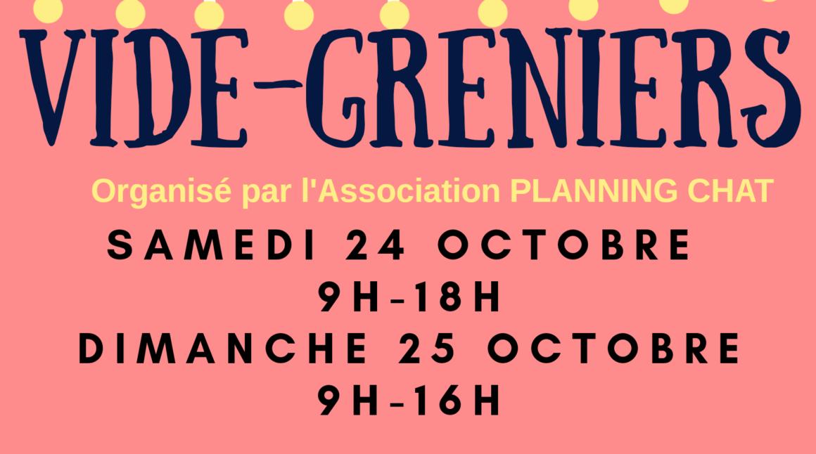 Vide greniers les 24 et 25 octobre à La Rochelle